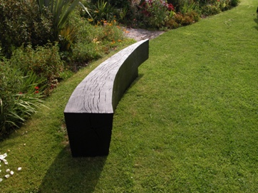 Curved bench 2M long