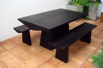 Small Dining table and benches