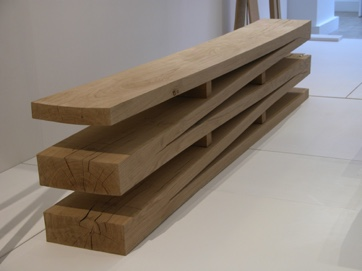 Oak springboard bench