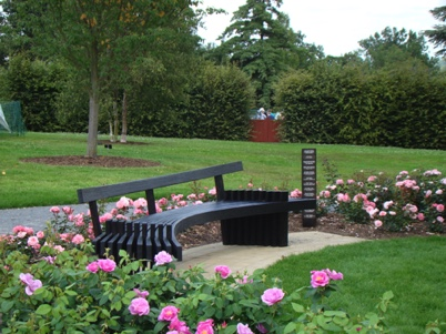 One of a series of seats at RHS Wisley