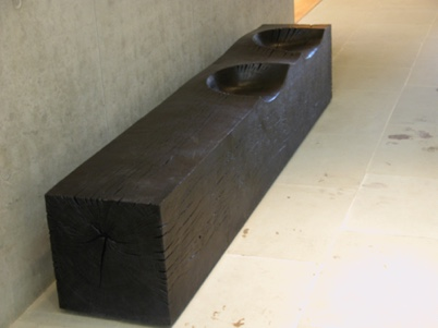 Long Block seat at Compton Verney Gallery