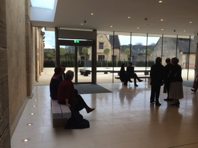 New seating at the Harley Gallery, Welbeck, Nottinghamshire